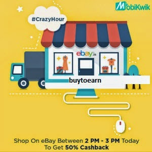 Ebay 50% Cashback with Mobikwik Wallet [2PM – 3PM 17th April]