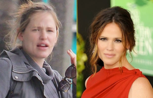jennifer garner - جينيفر جارنر غارنر - shocking celebrities without makeup photoshop