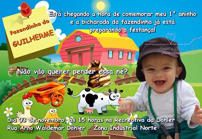 Convite para Festa Fazendinha