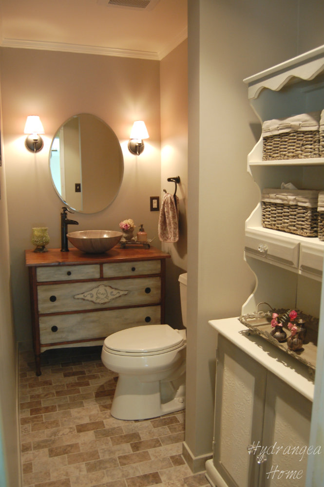 Hydrangea home by dawn 39 s designs finished bathroom finally for Finished bathroom ideas