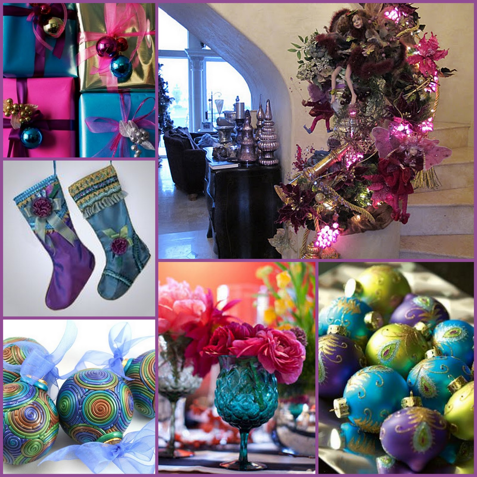 Jewel Tone Christmas Stockings