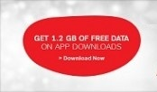 Airtel Free 1.2GB Data on App Downloads