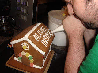Mr. W Decorates Gingerbread House (sneak peek)