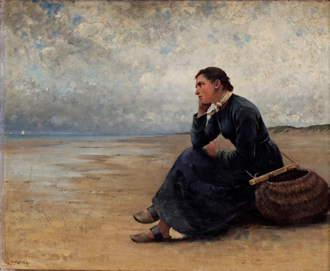 August Hagborg Waiting by the Ocean