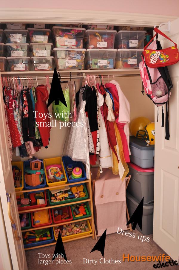 Toy Organization In A Closet/ Kids Closet Organization + Free Label  Printable