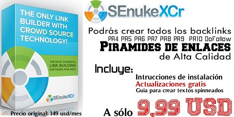 Descargar SENUKE XCr + Actualizaciones | Crear Pirámide de Backlinks de Alto PR