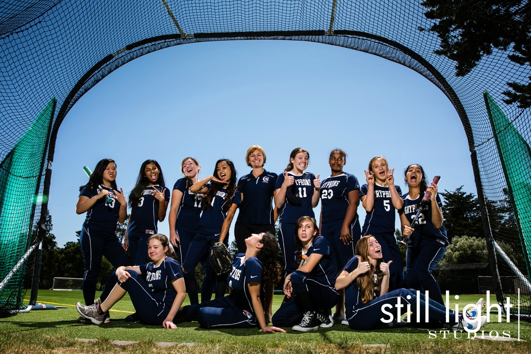 Hillsborough Crystal Springs High School Girls Softball Team Photo by Still Light Studios, School Sport and Senior Portrair Photography in Bay Area, nature, cinematic