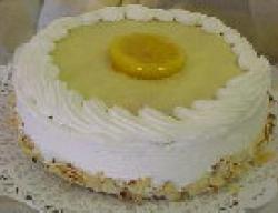 Lemon Appricote Cake taburan almond