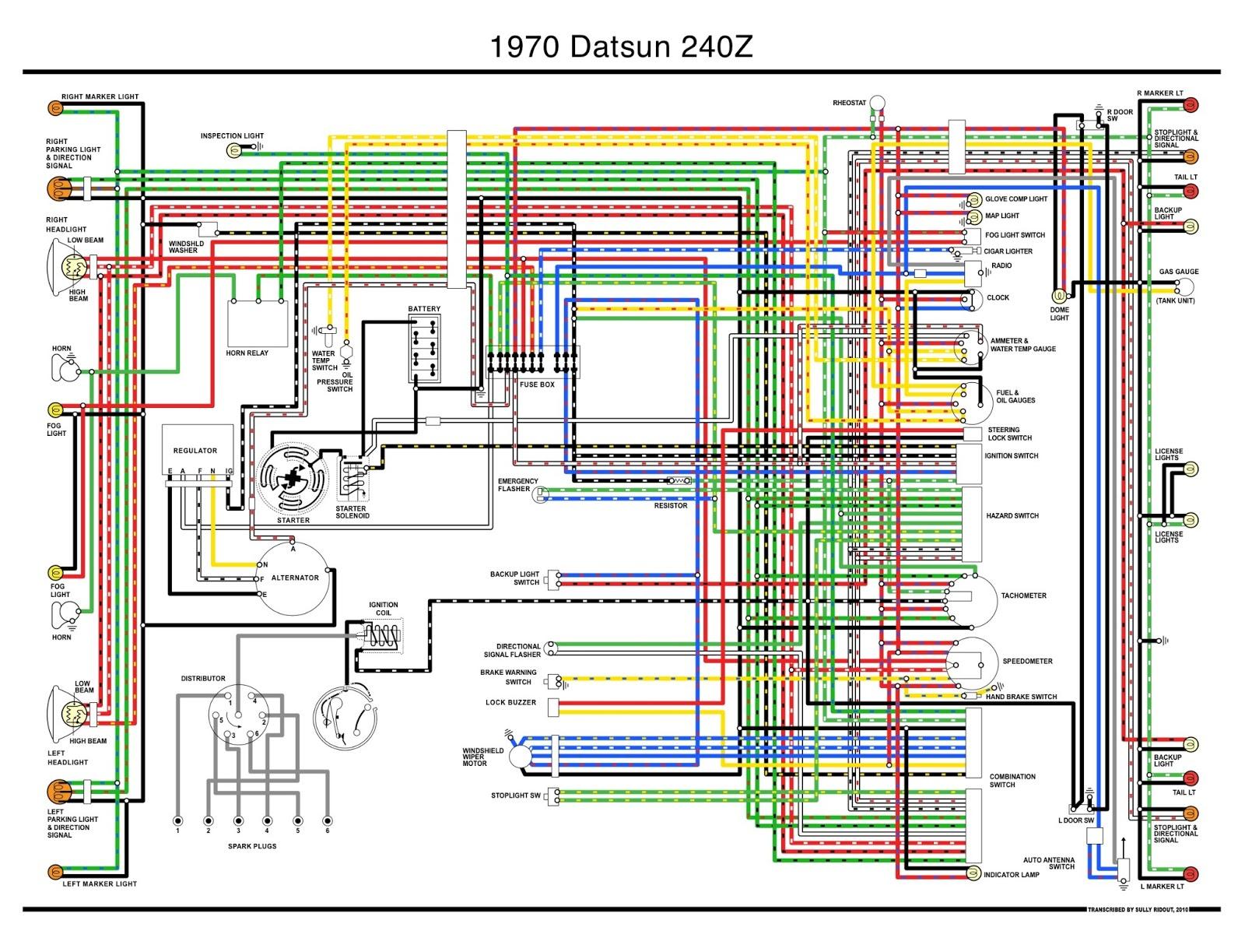 240Z Color Schematic. Lifesaver.