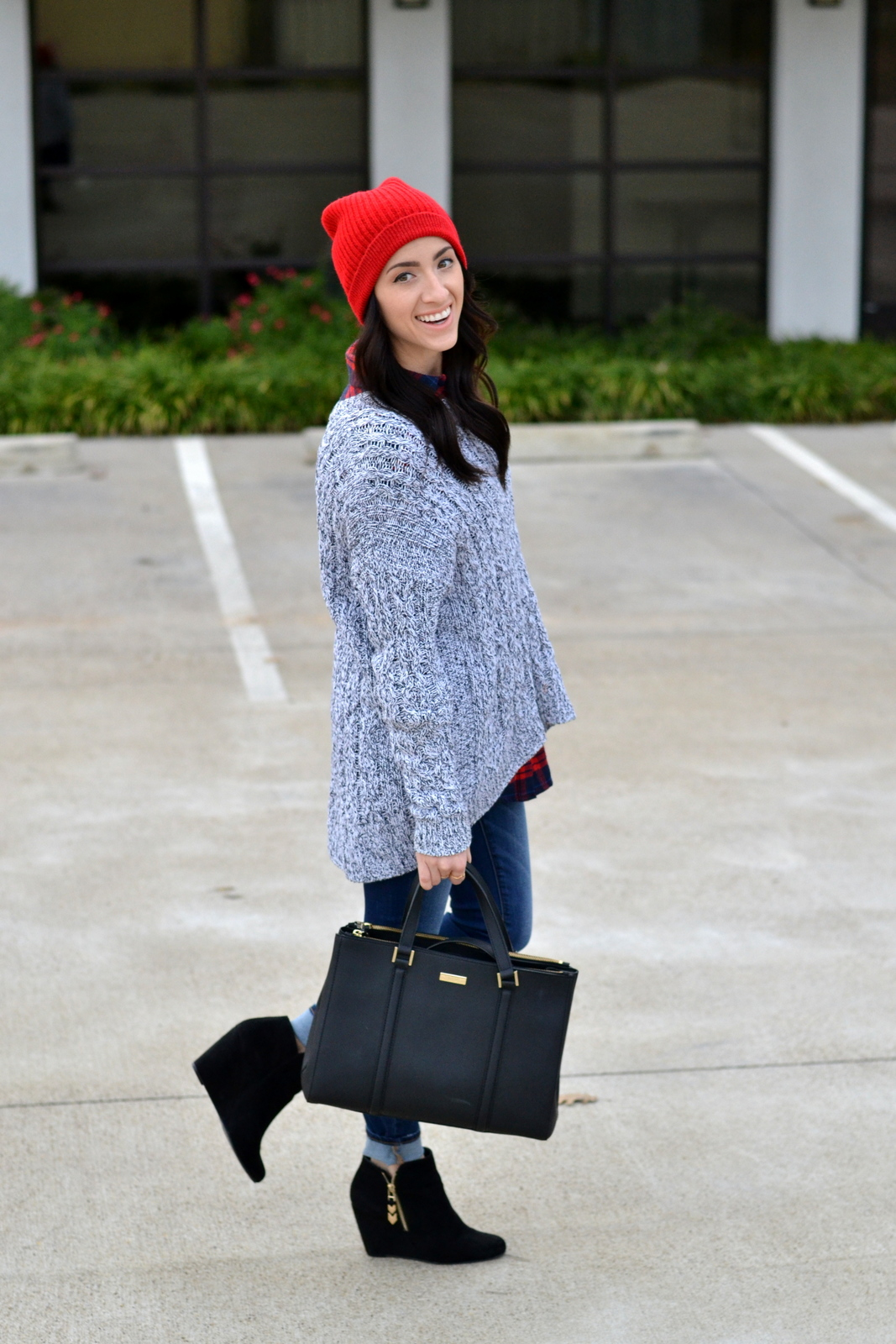 Winter Outfit_Kate Spade_Beanie_Chunky Knit