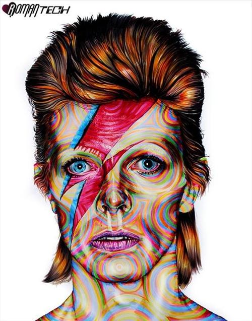 12-David-Bowie-Joshua-Roman-Rainbow-Portraits-Drawings-Illustrations-www-designstack-co