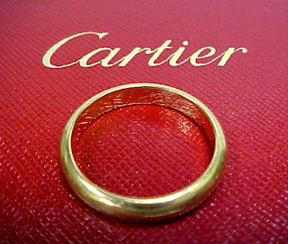 CARTIER - PARIS 750 YELLOW GOLD (18K) WEDDING BAND RING SIZE 10 FOR ...