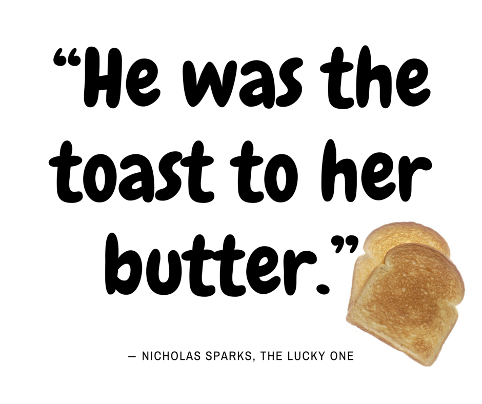 He was the toast... Nicholas Sparks, The Lucky One