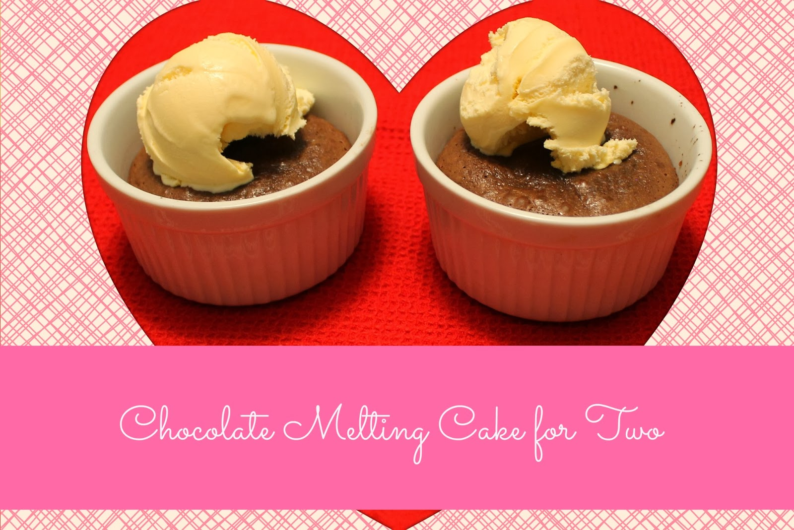 Chocolate Melting Cake for Two