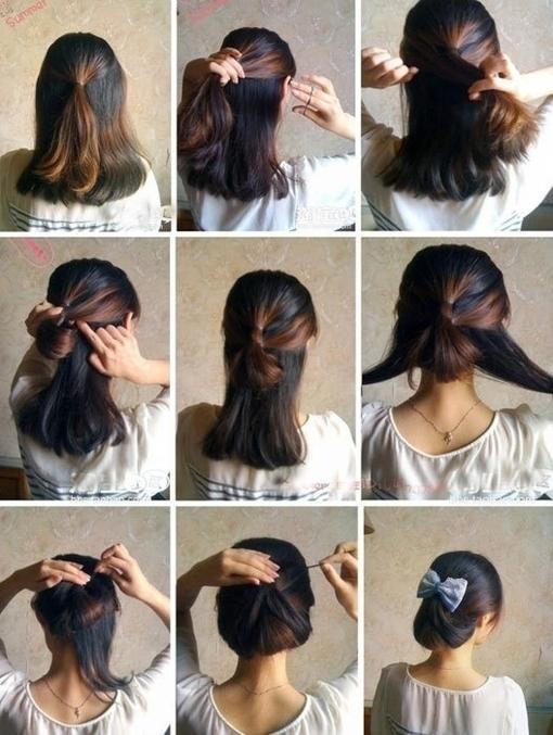 Как самой уложить волосы средней длины