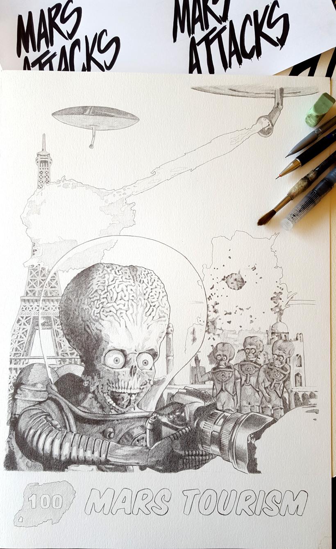 Ilustración a lápiz