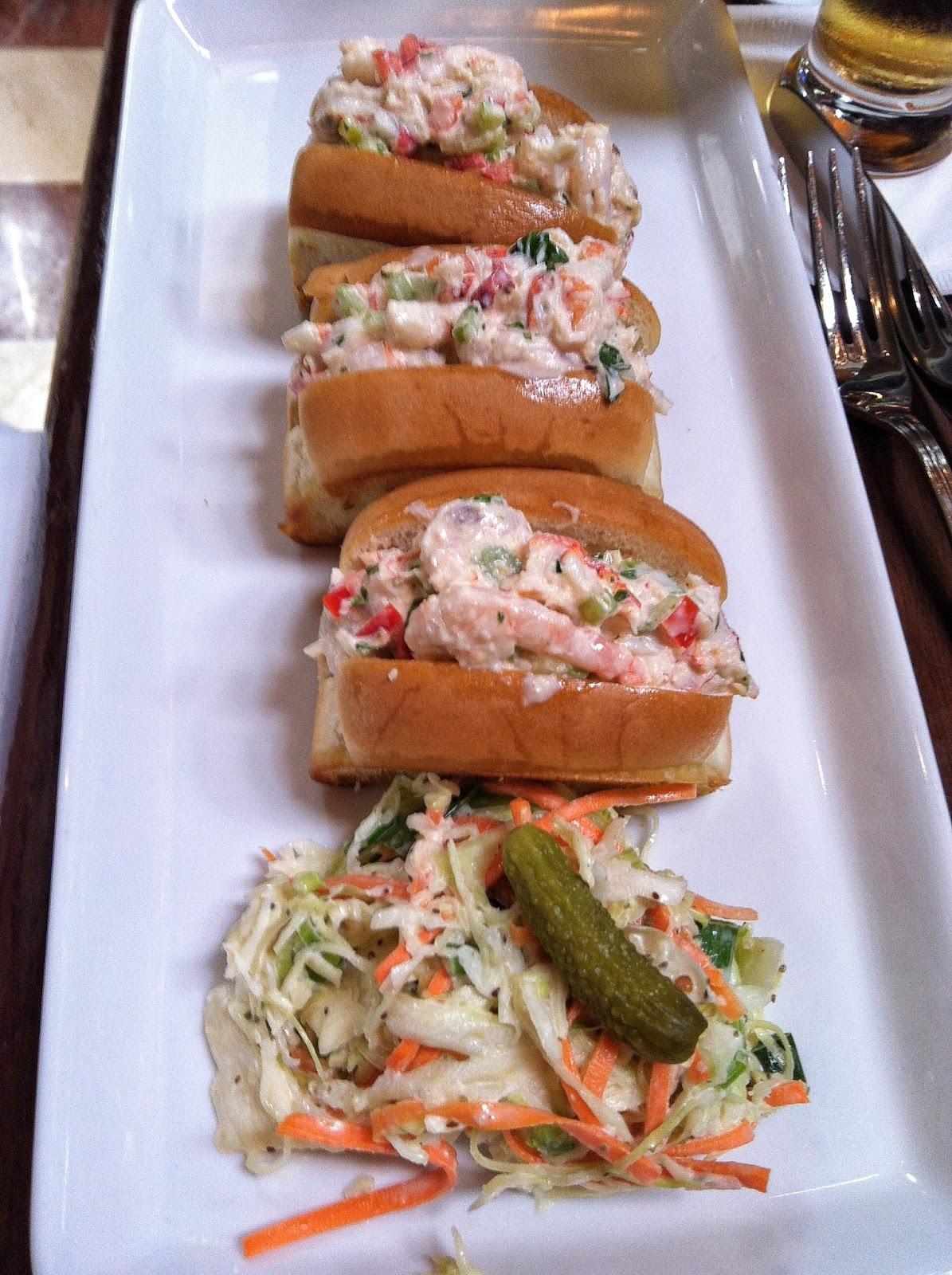 Mini lobster and shrimp rolls ($13.95)