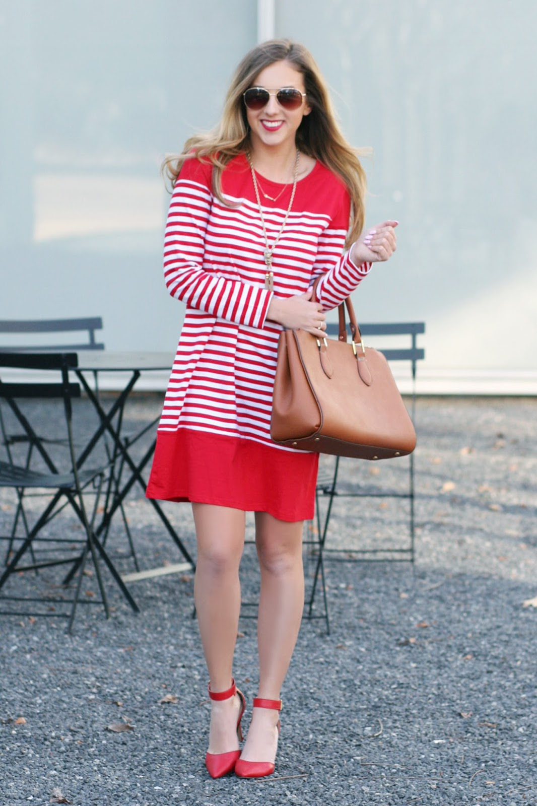 Red-and-white-striped-long-sleeve-shein-sheinside-dress-review