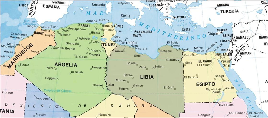 Mapa de Libia ~ Online Map