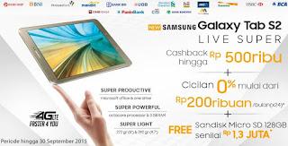 Samsung Galaxy Tab S2 Cashback dan Bonus Sandisk microSD 128 GB