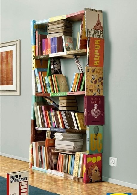 Bookshelf Made with Books 458 x 650