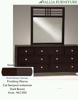 Contoh Furniture Semprot Melamine Dark Brown