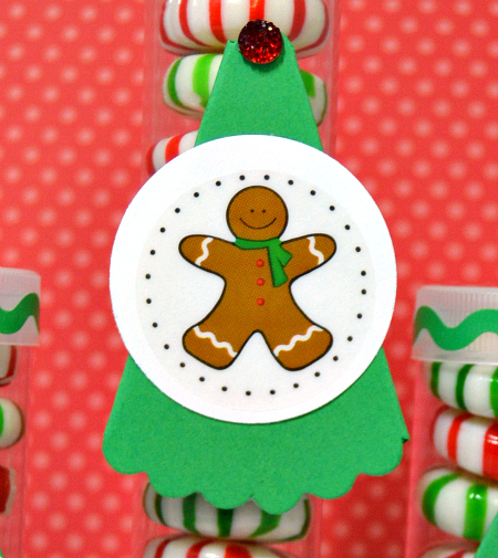 SRM Stickers  Blog - Christmas Tube Favors by Christine - #tubes #christmas #favors #stickers #punchedpieces #borders #DIY