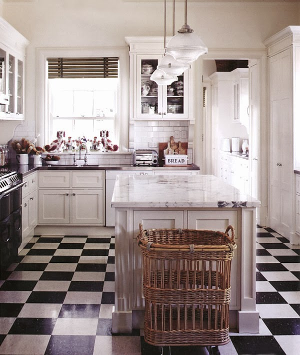 Tiffany leigh interior design classic checkered floors for Classic kitchen floor tile