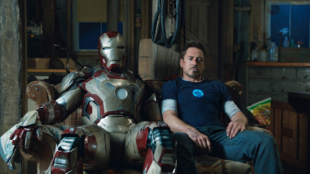 Tony Stark sat down with Iron Man suit Iron Man 3