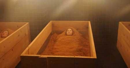 الاستحمام نشارة الخشب!