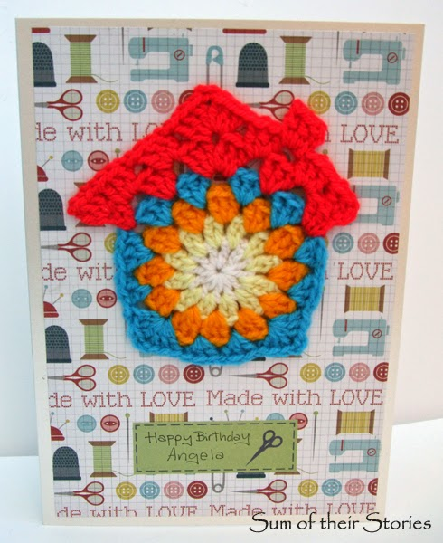 Card with Crochet house