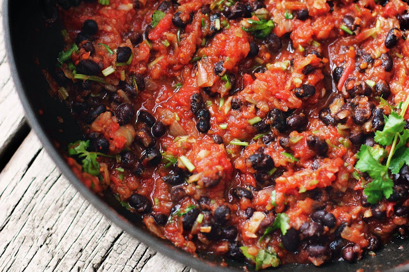 Milk and Honey: Chilli Black Bean Hot Dogs with Jalapeno Salsa