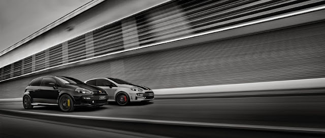 Abarth Punto Supersport, nera e bianca