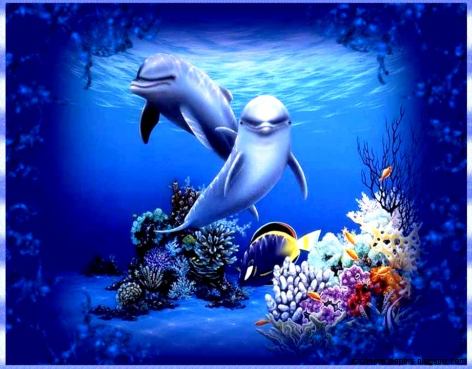 Living 3D Dolphins Animated Wallpaper Windows 7
