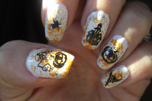 polish molish halloween nails