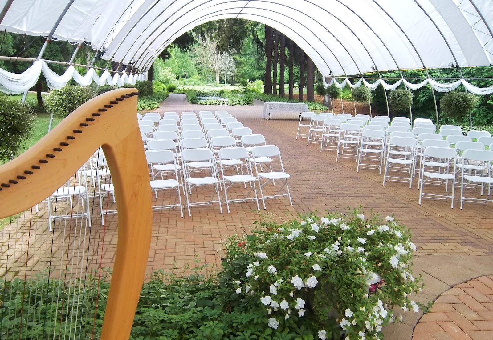 The Classic Harpist Michigan City Harpist Wedding At The International Friendship Gardens