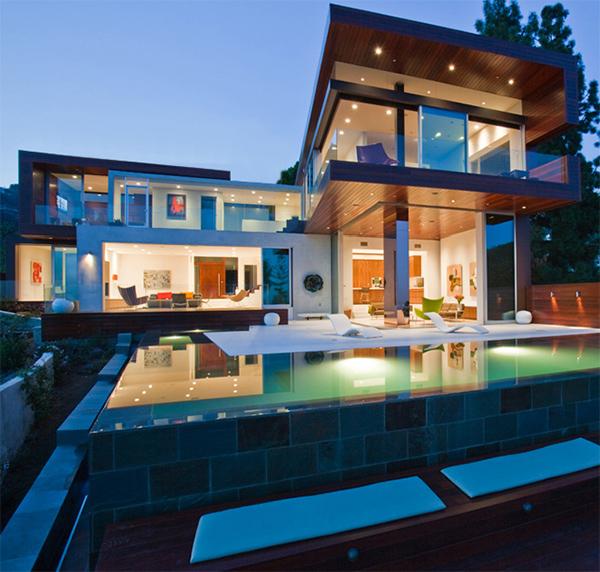 Home design hollywood hills contemporary home sunset for Casas modernas hollywood