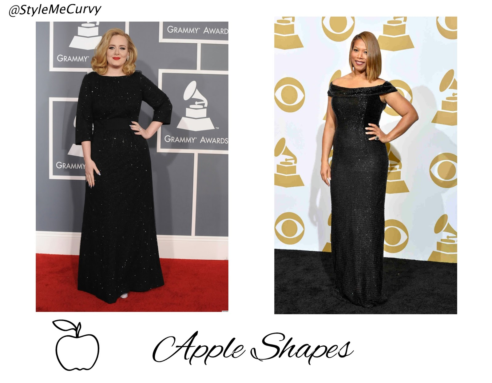 Apple shape celebrities - Adele - Queen Latifah