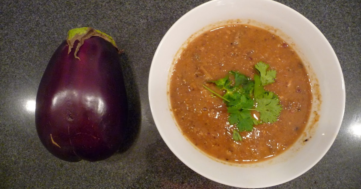 Pinks Pantry: Roasted Eggplant Soup