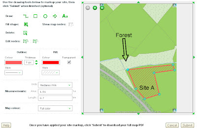 OS MasterMap annotation tool on SiteMap