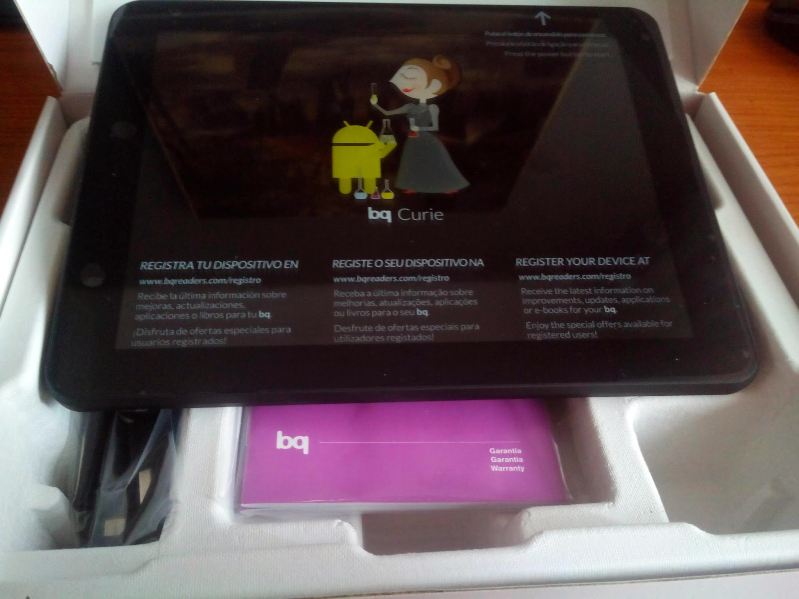 Tablet BQ Curie 2 quadcore con tablet