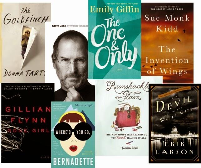 The GoldFind, Donna Tarte, Steve Jobs, The One & Only, Emily Giffin, Gone Girl, Gillian Flynn, Where'd you go Bernadette, Ramshackle Glam, Jordan Reid, Devil in the While City