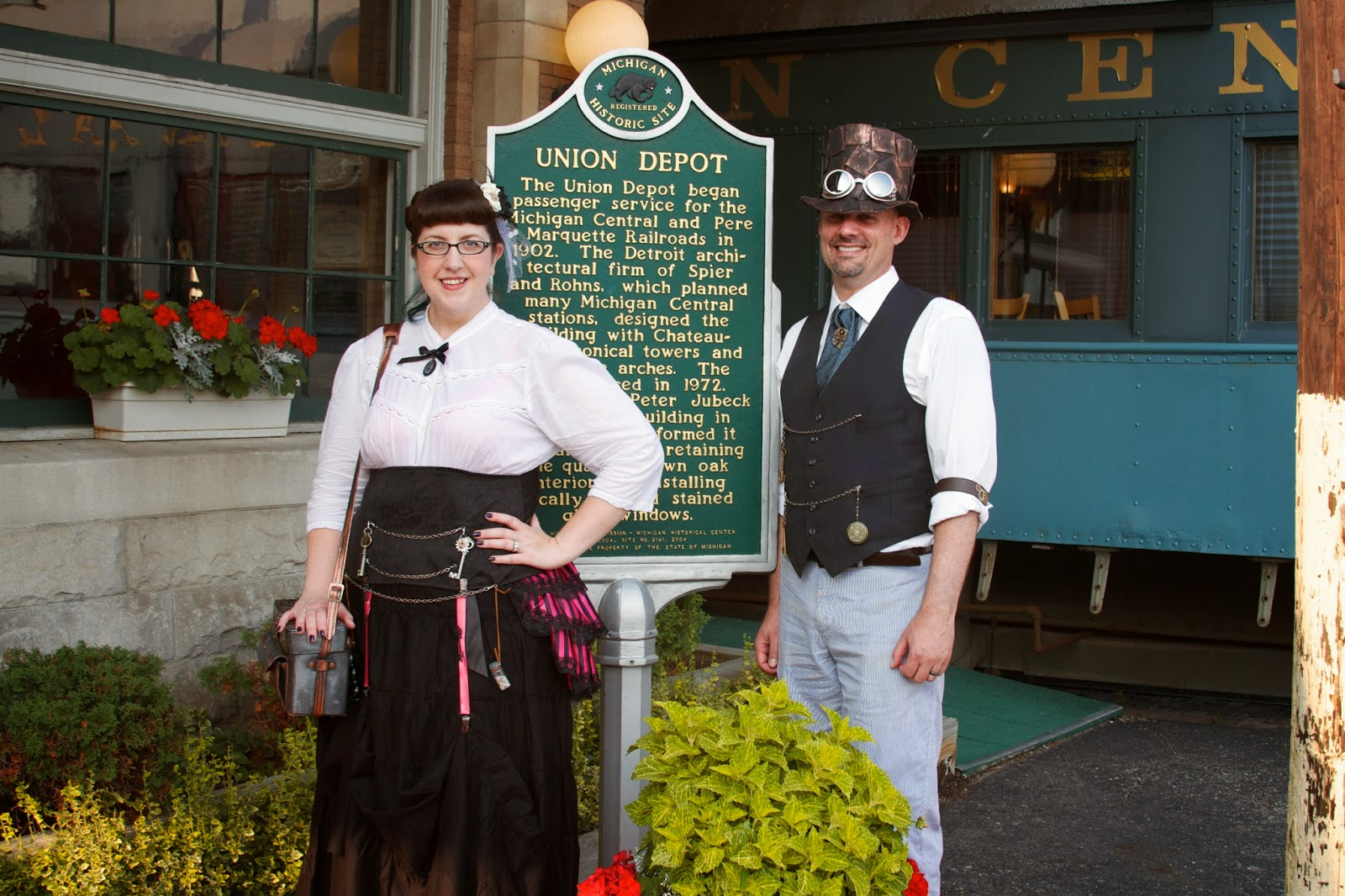 Steampunk adventures, Clara's Lansing Station. Photos by Tammy Sue Allen Photography.