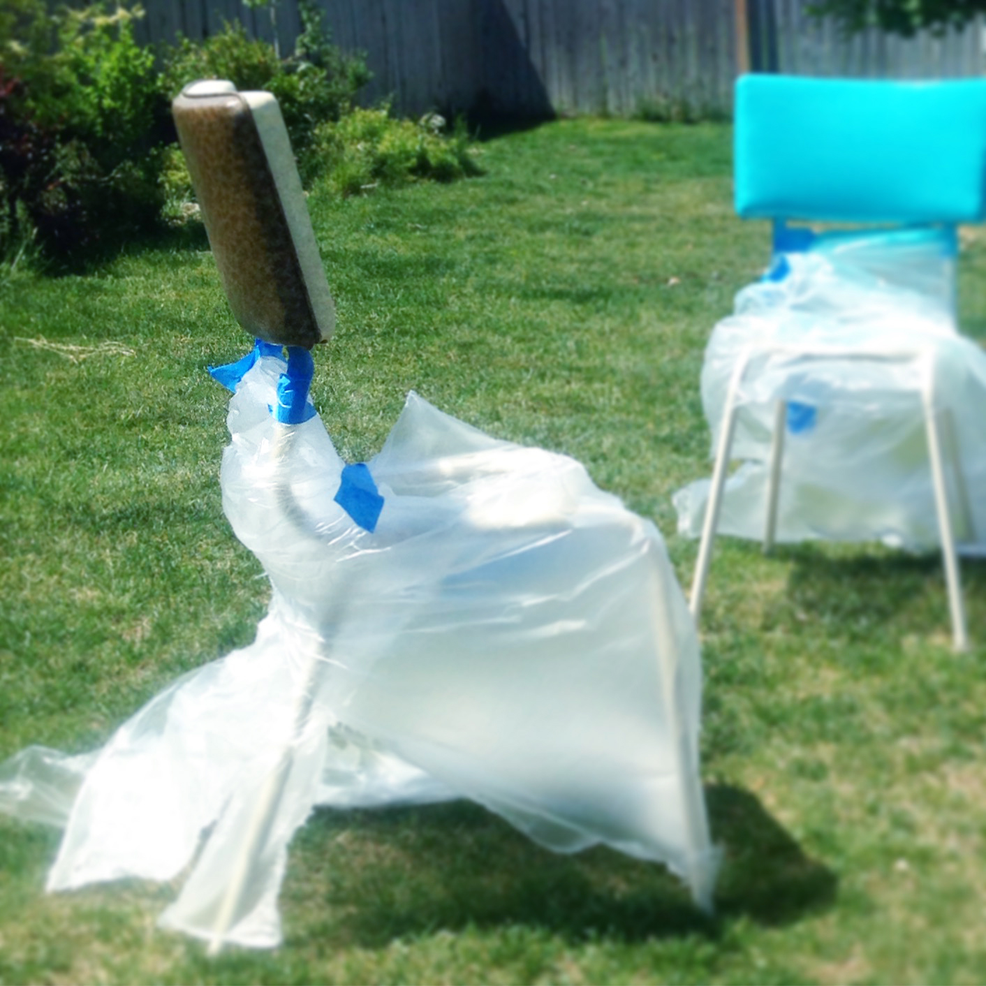 Spray Painting Chair Frames