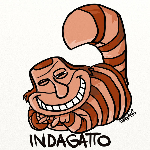 vignetta satira gava gavavenezia caricature ridere alice paese delle meraviglie berlusconi gatto  toghe cancro cazzo figa