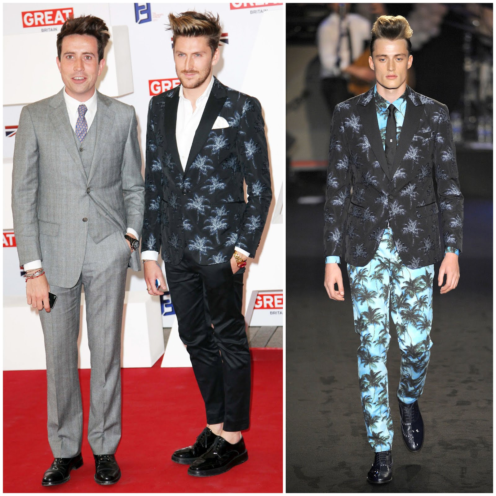00O00 London Menswear Blog celebrity style Henry Holland Creative Industries Reception Moschino palm trees blazer