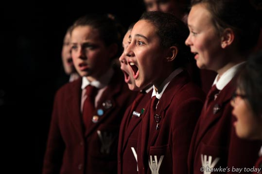 Centre: Sharmila Tautari, Woodford House, Havelock North - The Kids Sing 2013, Hawke's Bay Opera House, Hastings photograph