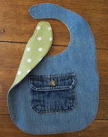 repurposed denim bib