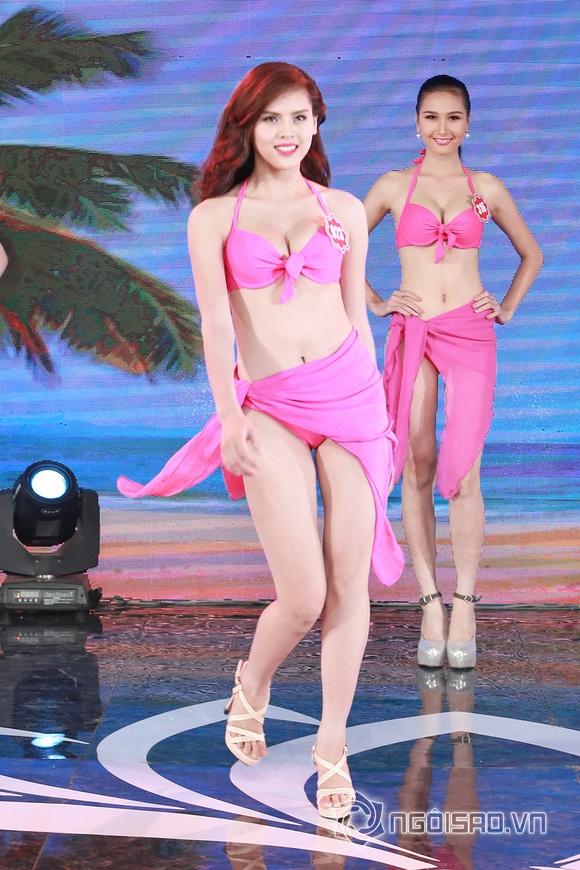 Ảnh gái xinh Hoa hậu miền bắc 2014 với bikini