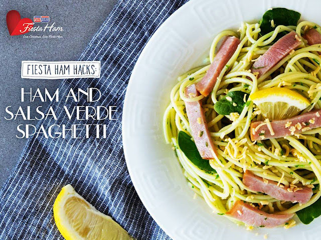 Ham and Salsa Verde Spaghetti Recipe